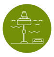 wave energy station icon in thin line style vector image vector image