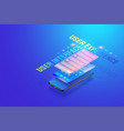 3d isometric mobile app ui ux design creating vector image vector image