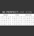 90 modern thin line icons set of medicine fitness vector image vector image