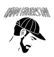 a man with a beard in his cap happy fathers day vector image vector image
