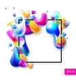 abstract bright colorful plasma drops shapes with vector image