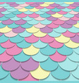 abstract pattern fish scale motif pastel color vector image vector image