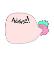 advise message