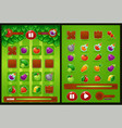 all elements for oyur match 3 game farm vector image vector image