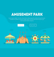 amusement park landing page template carnival vector image vector image