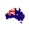 Australia flag map with shadow effect vector image vector image