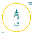 baby feeding bottle icon graphic elements for vector image vector image