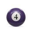 billiard four ball isolated on a white background