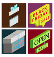 black friday calligraphic designs retro style vector image vector image