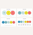 business infographics timeline with 3 4 5 6 vector image vector image
