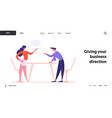 business people disagreement work conflict vector image vector image