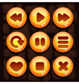 Button set for mobile game vector image vector image