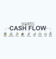 cash flow banner web icon for business and vector image