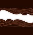 chocolate wavy swirl background smooth vector image vector image
