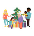 christmas amicable family holiday character vector image vector image