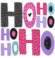 christmas hand draw greeting cards lettering vector image