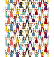 Christmas Social media people pattern background vector image
