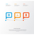 computer icons set collection of settings vector image vector image