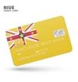 Credit card with Niue flag background for bank vector image vector image