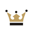 crown king logo vector image vector image