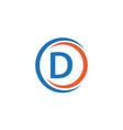 d company logo template design vector image