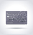 detailed abstract glossy credit card concept vector image vector image