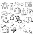 doodle summer collection vector image