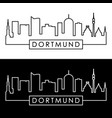 dortmund skyline linear style editable file vector image vector image