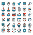 email connection filled outline icon vector image vector image