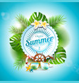 enjoy the summer holiday typographic vector image vector image