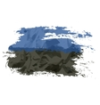 Estonian flag painted by brush hand paints Art vector image vector image