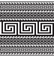 ethnic style tribal greek borders seamless vector image vector image