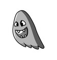 fanged ghost character vector image vector image
