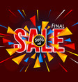final sale banner with triangle vector image