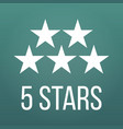 five stars customer product or hotel rating vector image vector image