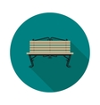 flat icon bench vector image vector image