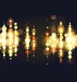 golden bokeh sparkle glitter lights luxury vector image vector image