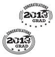 graduation 2018 emblem badge set vector image vector image