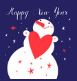 happy greeting card with a snowman vector image