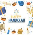 happy hanukkah tradition with david star vector image vector image
