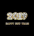 happy new year 2019 gold background vector image