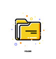 icon of folder with paper for office work concept vector image