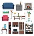 Interior Icons Flat Set vector image