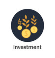 investment with money tree vector image vector image