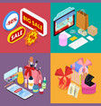 isometric online shopping mobile payment vector image vector image