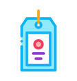 label tag icon outline vector image