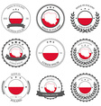 made in poland seals badges vector image