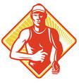 marathon runner icon vector image vector image