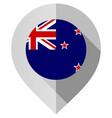 marker with flag for map vector image