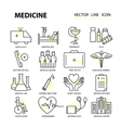 Modern thin line of icons on medicine and health vector image vector image